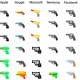 Google & Facebook Swap Gun Emoji With A Water Pistol
