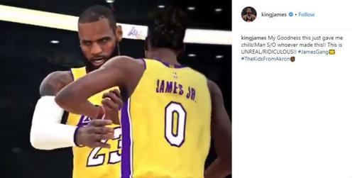 5797694634d NBA 2K Mixtape Imagines LeBron James Teaming With Son On Lakers ...