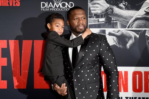 50 Cent's Son Sire Meets Creepy-Looking Santa Claus On
