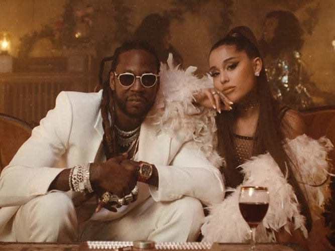 "2 Chainz & Ariana Grande Dazzle In ""Rule The World"" Video"