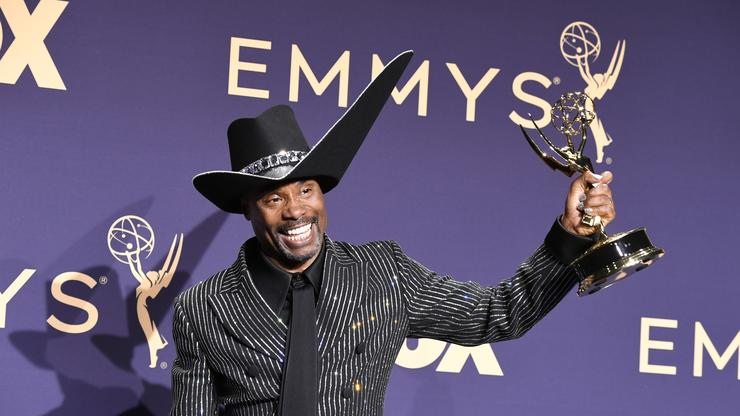 Image result for images of Billy Porter becomes first openly gay black man to win lead actor in a drama at the Emmys