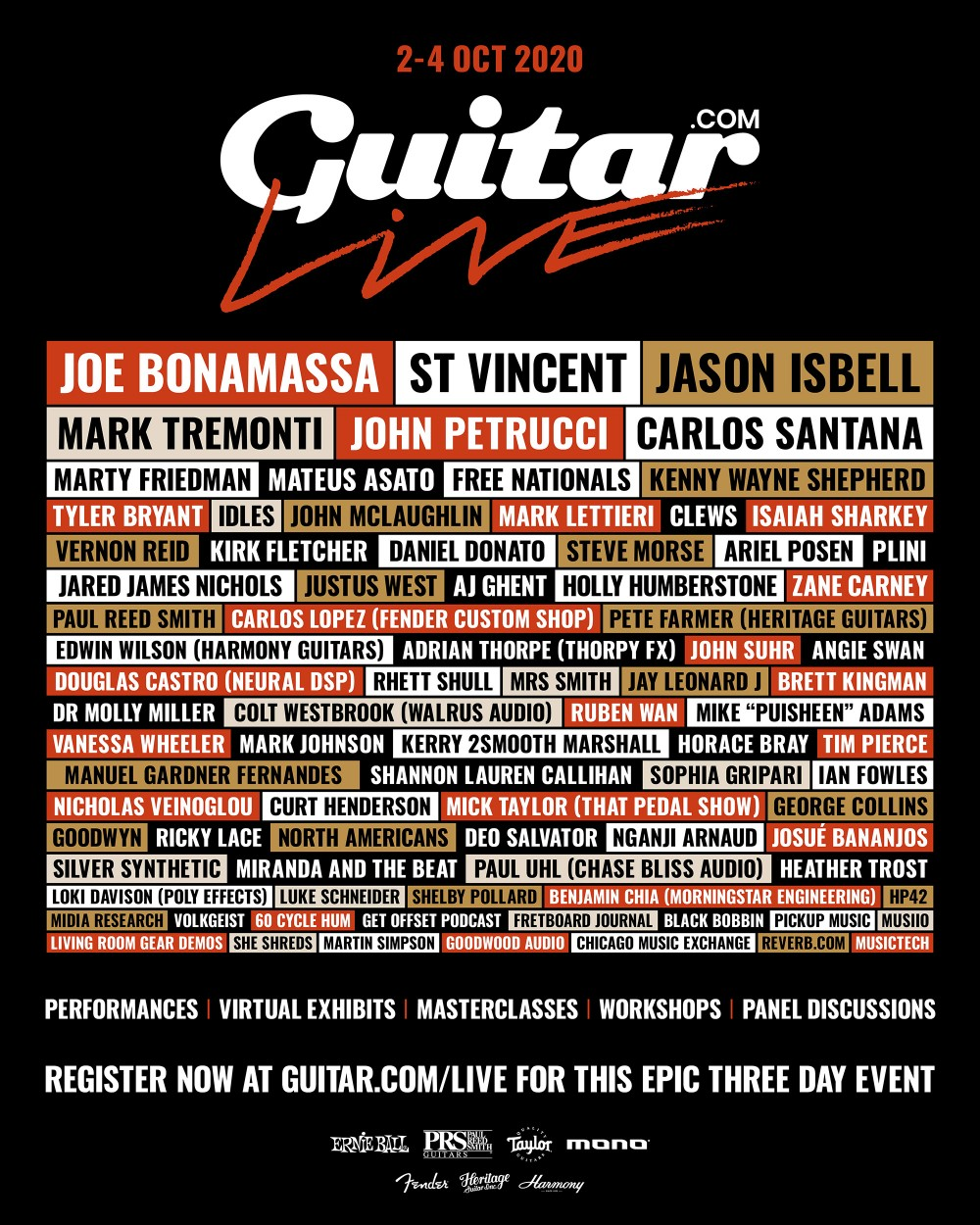 Guitar.com Live event flyer