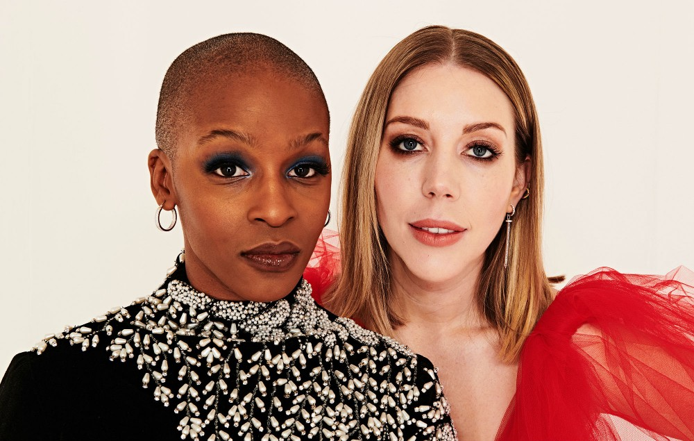 On the night with co-host of the NME Awards 2020 Julie Adenuga. Credit: Dean Chalkley