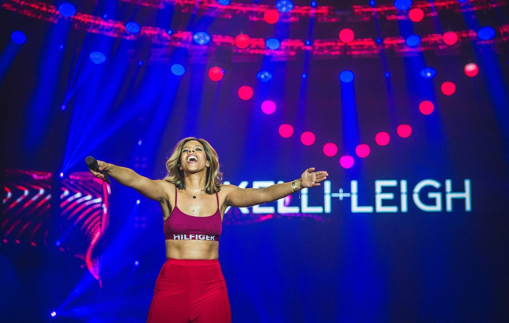Kelli-Leigh performs live on stage during Redfestdxb Festival 2018 on February 8, 2018 in Dubai, United Arab Emirates. (Photo by Joseph Okpako/WireImage)