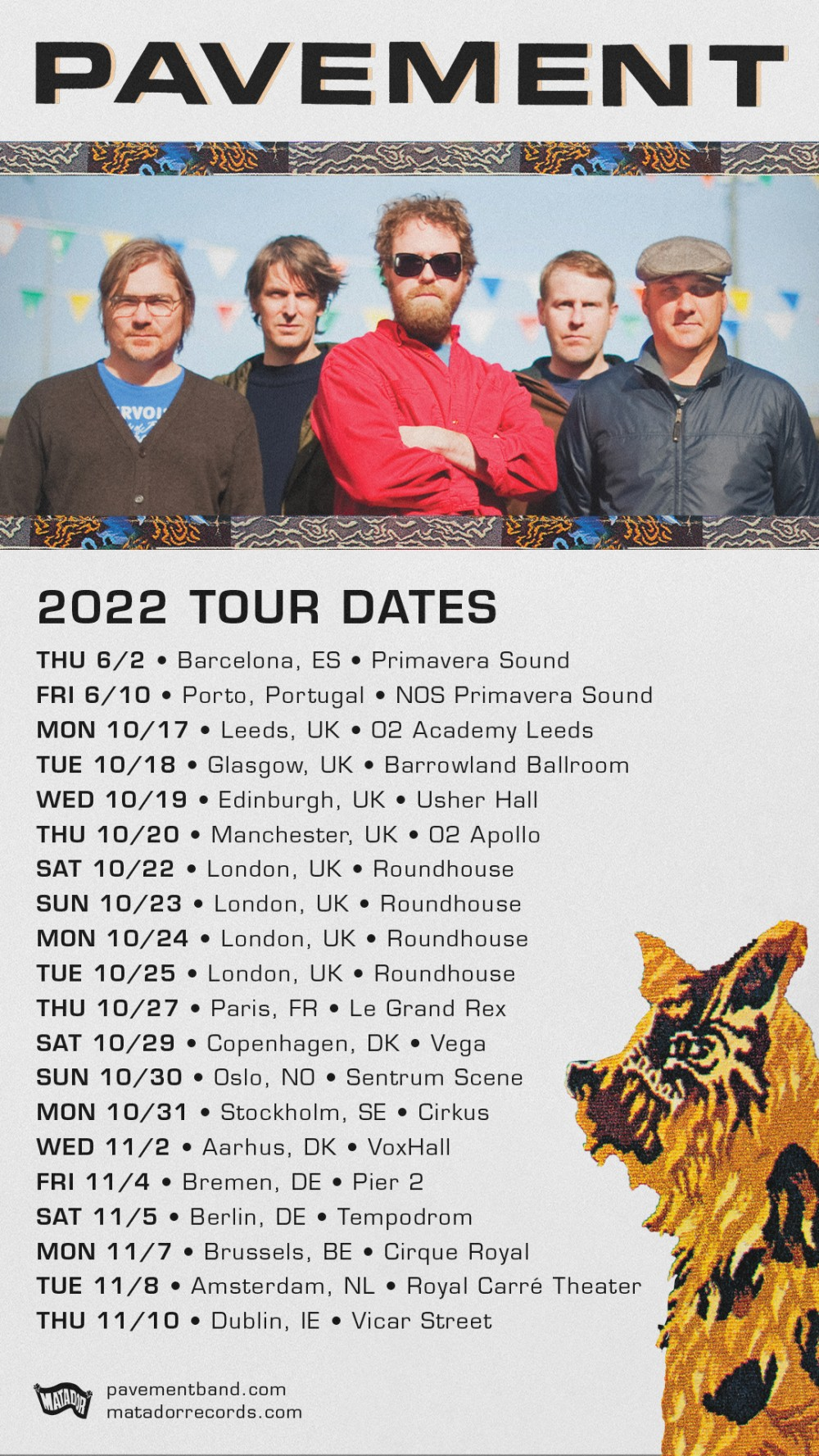 Pavement 2022 tour